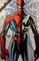Paolo Pantalena original copic marker Amazing Spiderman. Click Artwork to View