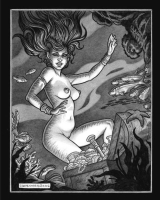 Anthony Carpenter: Sea Nymph illustration (nude). Click Artwork to View