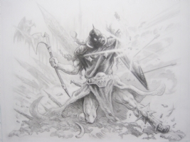 Deathdealer Deflecting Fire. Click Artwork to View