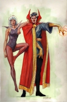 Dr. Strange & sidekick - J. Rubinstein after Guice Comic Art