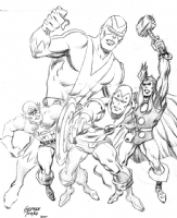 Tuska Avengers Pencils Comic Art