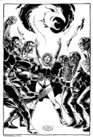 X-Men vs Hellfire Club Comic Art