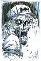 Castillo Zombie sketch Comic Art