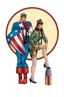 Captain America and Lt. Cindy Glass Comic Art