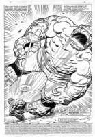 MARVEL TWO-IN-ONE # 100 PAGE 1 Comic Art
