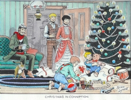 Christmas in Conniption by Stan Lynde Comic Art