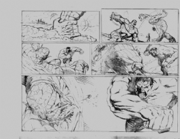 Hulk vs Abomination Page 2 - Pitch piece Comic Art