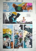 Daredevil Issue 285 Page 30 Color Matt Wrapping Eyes Comic Art