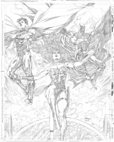 Trinity - Superman, Wonder Woman & Batman, Comic Art