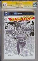 Justice League 1 CGC SS 9.8 Superman by Brad Walker Comic Art