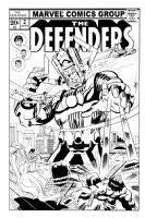 The Defenders vs. Galactus Comic Art