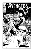 Avengers vs. Loki Cover Commission Comic Art