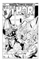 The Mighty Thor vs. Loki & The Warriors Three Comic Art