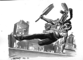 Casey Jones by J.K. Woodward Comic Art