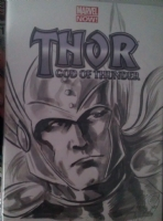 Thor by J.K. Woodward Comic Art