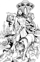 Grimm Fairy Tales: Oz Reign of Witch Queen #1 Cover Comic Art