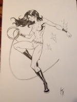 Donna Troy /Wonder Girl by Karl Altstaetter Comic Art