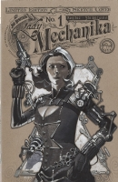 Steampunk x Black Widow  Comic Art
