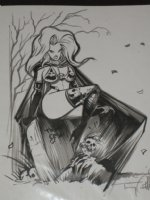 Lady Death by Tommy Castillo Comic Art
