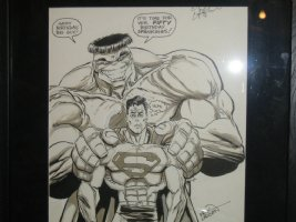 Superman/Hulk By Erik Larsen Comic Art
