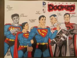 Superman Sketch Cover Comic Art