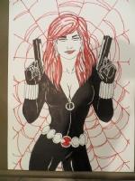 The  Black Widow Comic Art