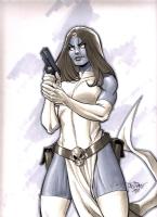 Mystique Comic Art