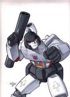 Transformers Megatron Comic Art