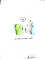 Godzilla in Love by Katie Cook, Comic Art