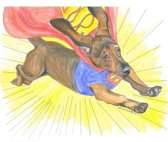 Oscar, the Super-Dog by Anna Beth White, Comic Art