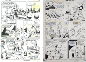 Legion/LSH (1983) #306 Page 17, 18 by Curt Swan and Larry Mahlstedt Comic Art