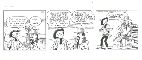 Rick O'Shay Daily (1959-03-11) by Stan Lynde Comic Art