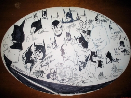 Batman Sign convention Jam Piece  Comic Art