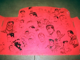 Superman Sign Convention Jam Piece Comic Art
