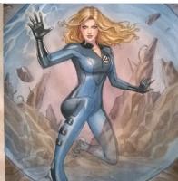 Invisible woman Comic Art