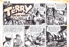 CANIFF: TERRY AND THE PIRATES SUNDAY (8/8/43) Comic Art