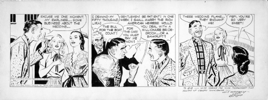 RAYMOND: RIP KIRBY (8/10/50) Comic Art