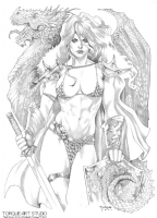 Torque, Elizabeth - Red Sonja Comic Art