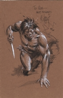 Kubert, Joe - Tarzan drawing Comic Art
