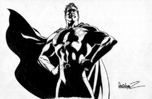 Garcia Lopez - Superman Movie Style Guide Comic Art