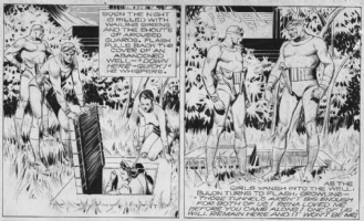 Flash Gordon 11-3-40 panels 2 and 3 Comic Art