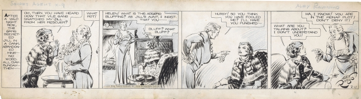 Raymond, Alex - SECRET AGENT X-9  02-11-1935 Comic Art