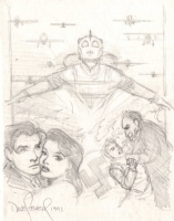 Stevens, Dave - Rocketeer Proposed Poster Preliminary #1 Comic Art