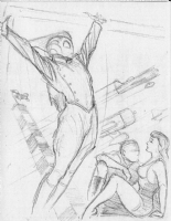 Stevens, Dave - Rocketeer Proposed Poster Preliminary #2 Comic Art