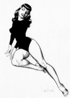 Dave Stevens - Bettie in Black Comic Art