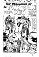 Kirby/Ayers - Two-Gun Kid #60 - First Story -  The Beginning of the Two-Gun Kid  - Page 01 Splash Comic Art