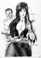 Morrow, Gray - Elvira Proposed Cover Comic Art