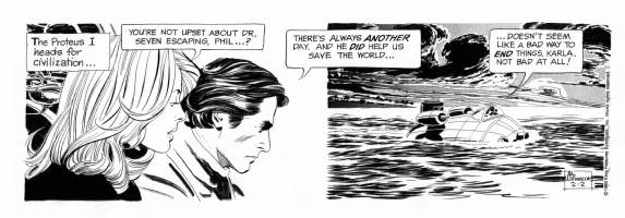 Al Williamson's FINAL Secret Agent X-9 (Corrigan) Comic Art