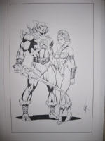 He-man And Teela by MC Wyman Comic Art