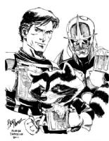 Starlord, Rocket Racoon and Nova Comic Art